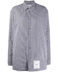 Veste-chemise à carreaux noire et blanche Maison Margiela