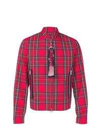 Veste-chemise à carreaux rouge DSQUARED2
