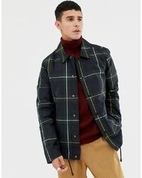 Veste-chemise à carreaux vert foncé ASOS DESIGN