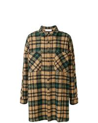 Veste-chemise à carreaux vert foncé Faith Connexion