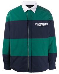 Veste-chemise à rayures horizontales bleu marine DSQUARED2