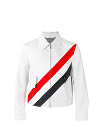 Veste-chemise à rayures horizontales grise Thom Browne