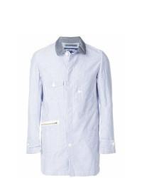Veste-chemise à rayures verticales bleu clair