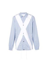 Veste-chemise à rayures verticales bleu clair Comme Des Garcons SHIRT