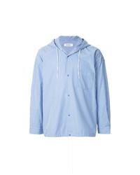 Veste-chemise à rayures verticales bleu clair Monkey Time