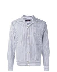 Veste-chemise à rayures verticales bleu clair The Gigi