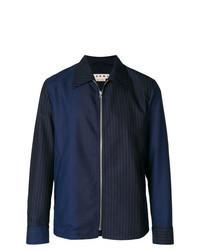 Veste-chemise à rayures verticales bleu marine