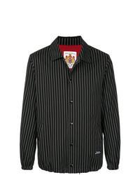 Veste-chemise à rayures verticales noire