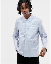 Veste-chemise argentée ASOS DESIGN