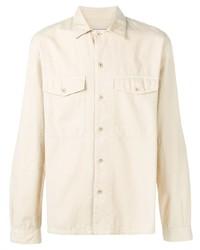 Veste-chemise beige Ami Paris