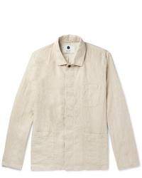 Veste-chemise beige Nn07