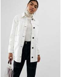 Veste-chemise blanche ASOS DESIGN