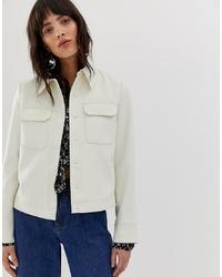 Veste-chemise blanche Mango