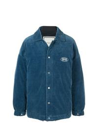 Veste-chemise bleu canard Wooyoungmi