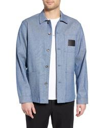 Veste-chemise bleu clair