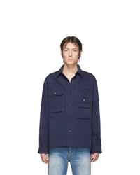 Veste-chemise bleu marine Acne Studios