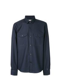 Veste-chemise bleu marine AMI Alexandre Mattiussi