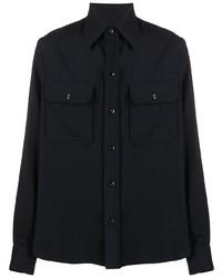 Veste-chemise bleu marine Ami Paris