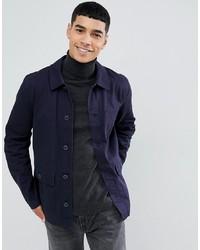 Veste-chemise bleu marine ASOS DESIGN