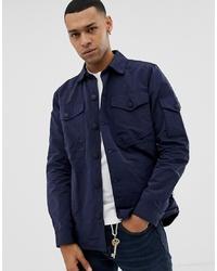 Veste-chemise bleu marine Barbour Beacon