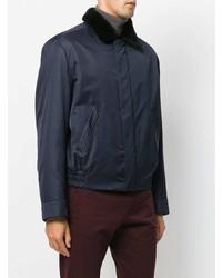Veste-chemise bleu marine Brioni