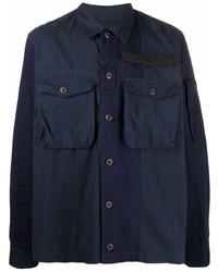 Veste-chemise bleu marine Diesel