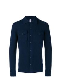 Veste-chemise bleu marine Eleventy