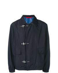 Veste-chemise bleu marine Fay