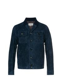 Veste-chemise bleu marine Gucci