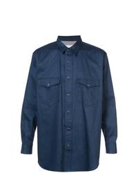 Veste-chemise bleu marine Julien David