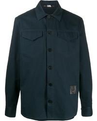 Veste-chemise bleu marine Karl Lagerfeld