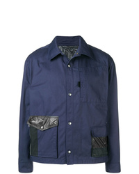 Veste-chemise bleu marine Lanvin