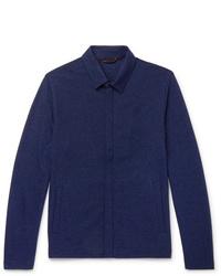 Veste-chemise bleu marine Loro Piana