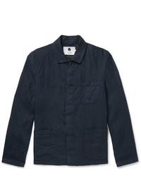 Veste-chemise bleu marine Nn07