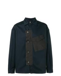 Veste-chemise bleu marine Oamc