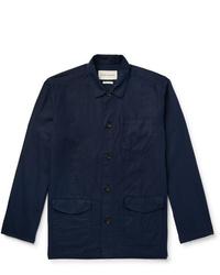 Veste-chemise bleu marine Oliver Spencer
