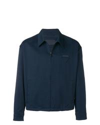 Veste-chemise bleu marine Prada