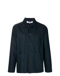 Veste-chemise bleu marine Societe Anonyme