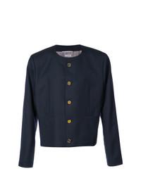 Veste-chemise bleu marine Thom Browne