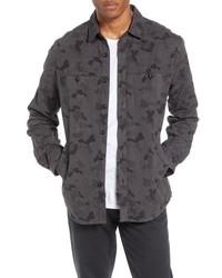 Veste-chemise camouflage gris foncé