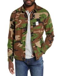 Veste-chemise camouflage olive