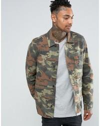 Veste-chemise camouflage olive Asos
