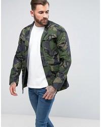 Veste-chemise camouflage olive G Star