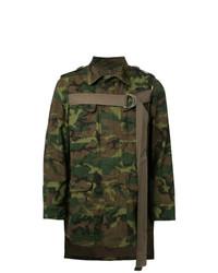 Veste-chemise camouflage olive Maison Mihara Yasuhiro