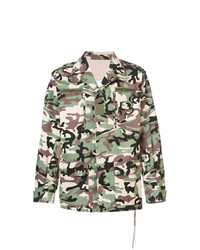 Veste-chemise camouflage olive Mastermind Japan