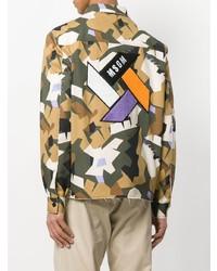 Veste-chemise camouflage olive MSGM