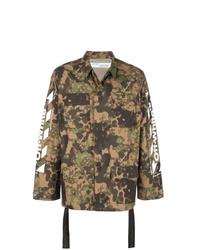 Veste-chemise camouflage olive Off-White