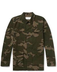 Veste-chemise camouflage olive Officine Generale