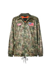 Veste-chemise camouflage olive R13