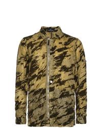 Veste-chemise camouflage olive Stone Island Shadow Project